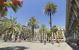 Plaza Real in Barcelona awaits reconstruction